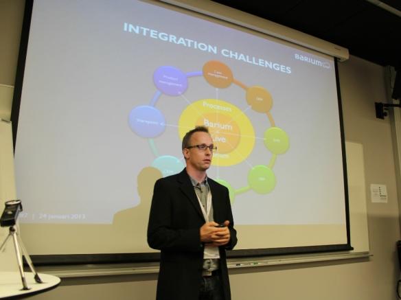 Fredrik Caesar talking about integration in the cloud