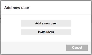 Add user manually